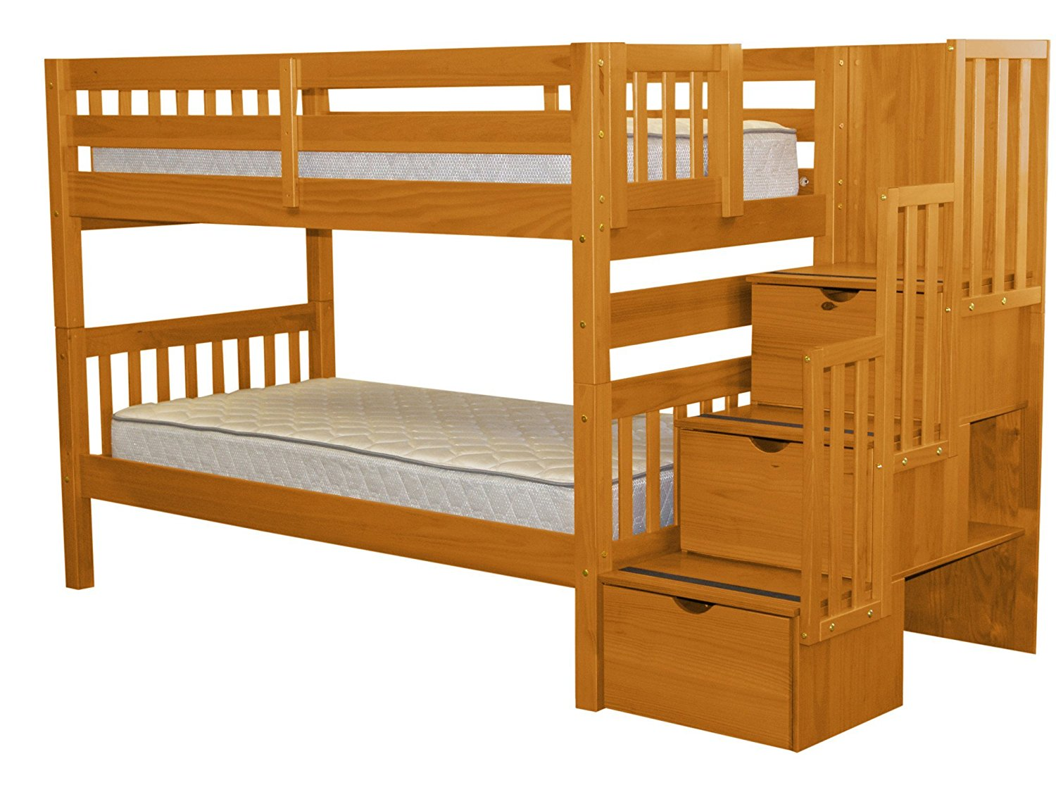 bunk beds with stairs cheap