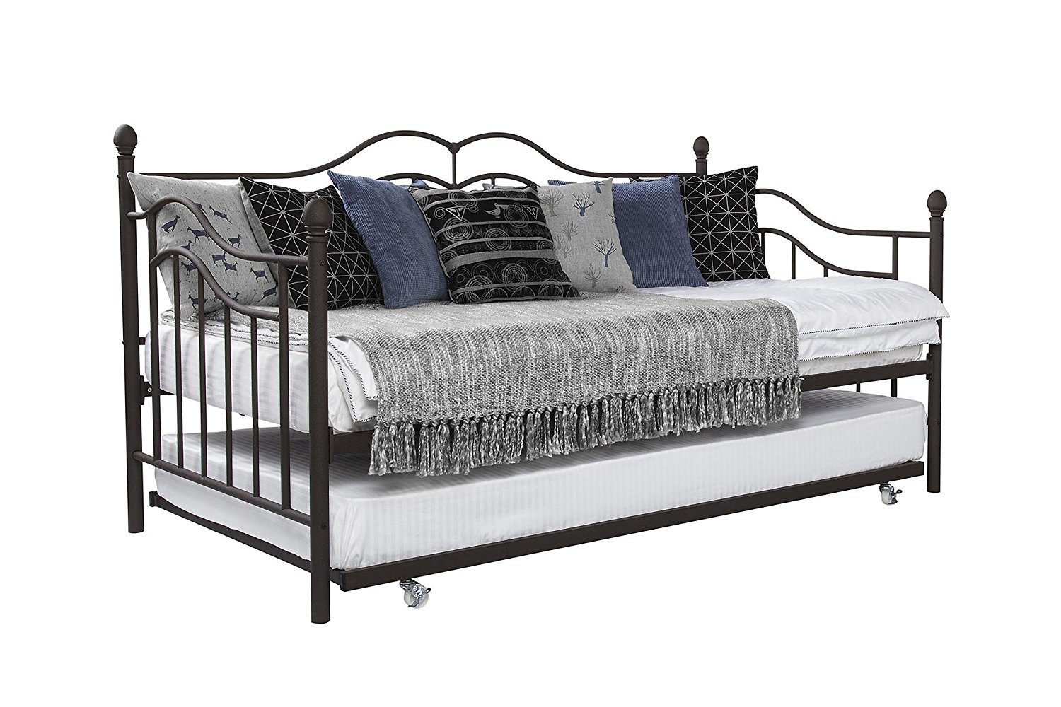 full size white daybed with trundle